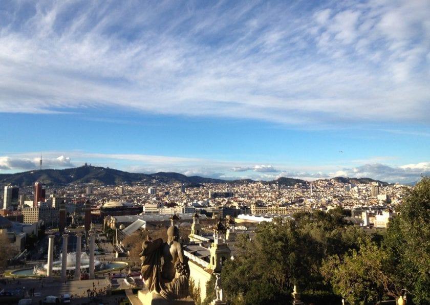 Panoramablick über Barcelona.