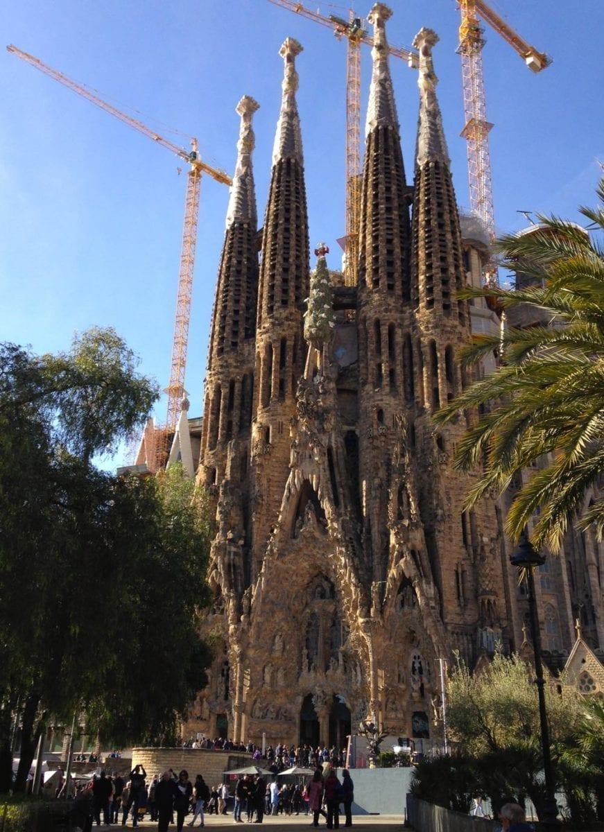 Alltägliches Bild der Sagrada Família.