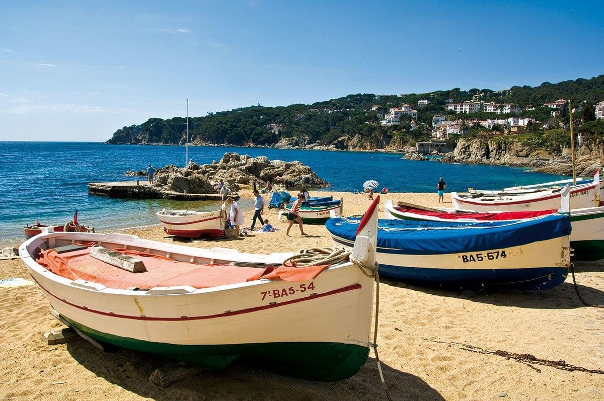 Fischerboote an der Costa Brava