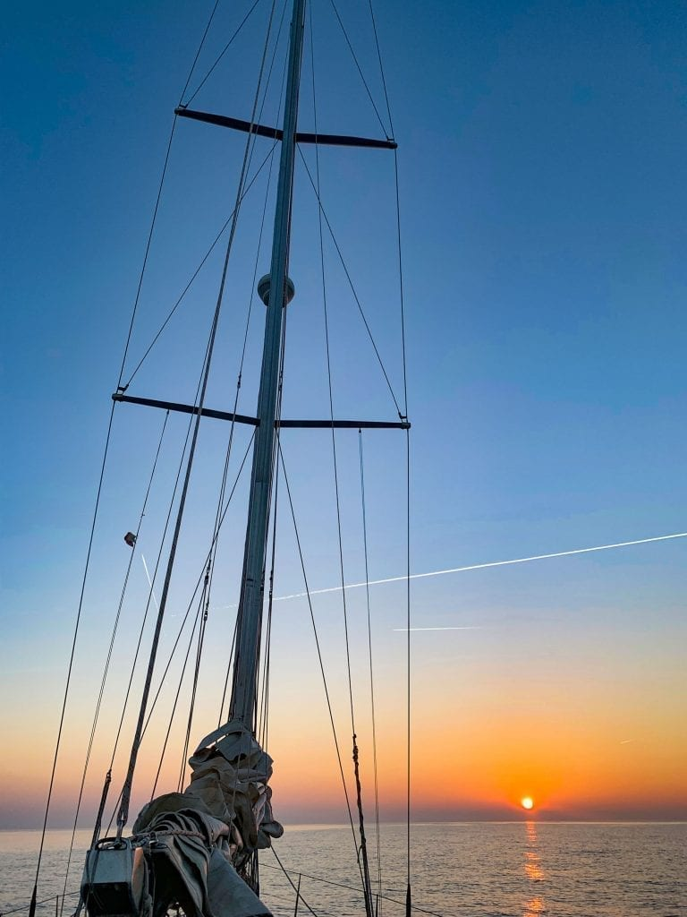 Windjammer Sonnenaufgang - segeln
