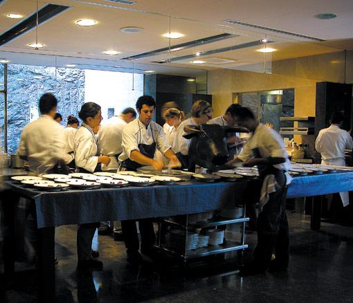 "Blick in die Küche vom ""El Bulli"" in Roses"