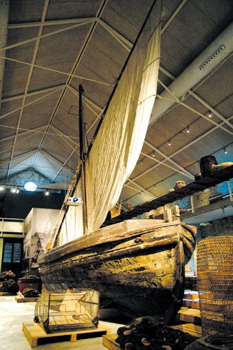 Fischerboot im Palamos Fischerei Museum