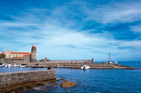 Toller Blick auf Collioure in Frankreich