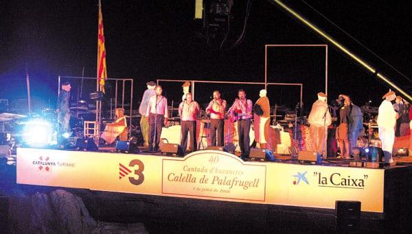 Auftritt der Havaneros-Band in Callela de Palafrugell