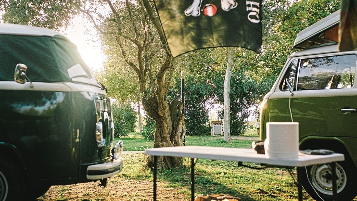 Camping, Bulli, T2, T3, T1, Volkswagen, Oldtimer, Costa Brava
