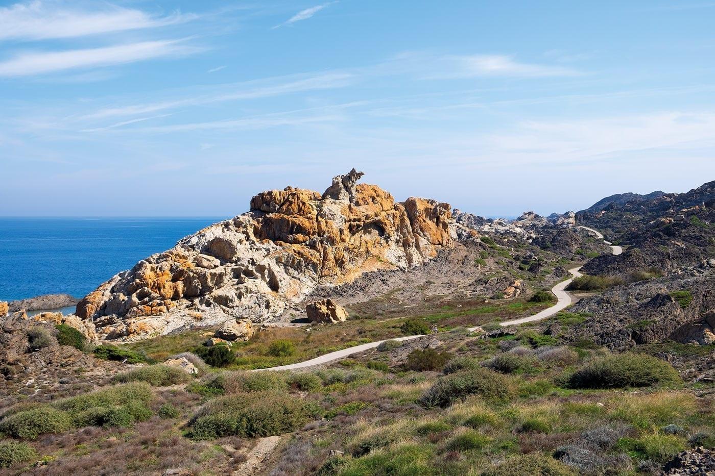 Pla de Tuleda, Salvador Dalí, Cap de Creus, Costa Brava, Mittelmeer, Wandern in Cadaqués