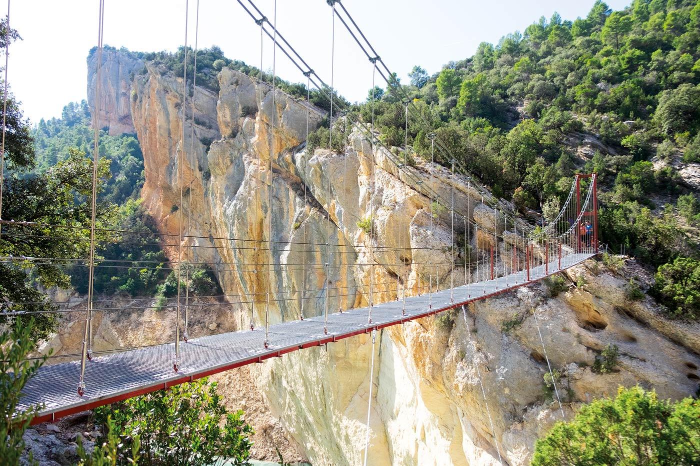 hängebrücke, Wanderlust, Natur, Schluchtenwanderung, Wandern im Congost de Montrebei