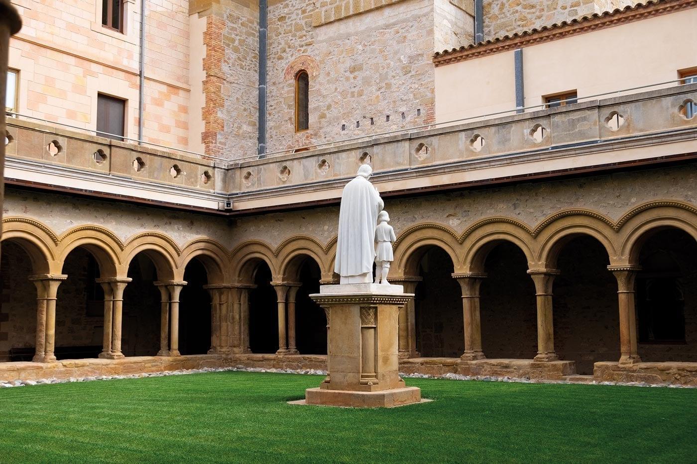 Kreuzgang, Monastir de Santa maria Bellpuig Avellanes,  katalonien