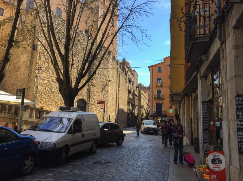 Blick in die Altstadt Gironas