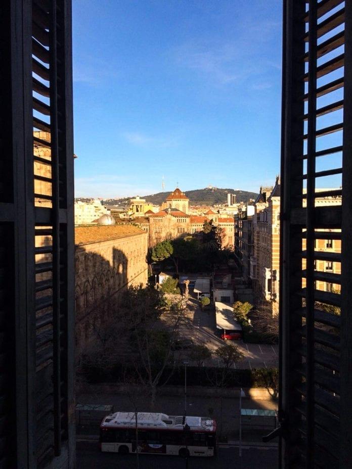 Perfekter Ausblick über die Dächer der Stadt.