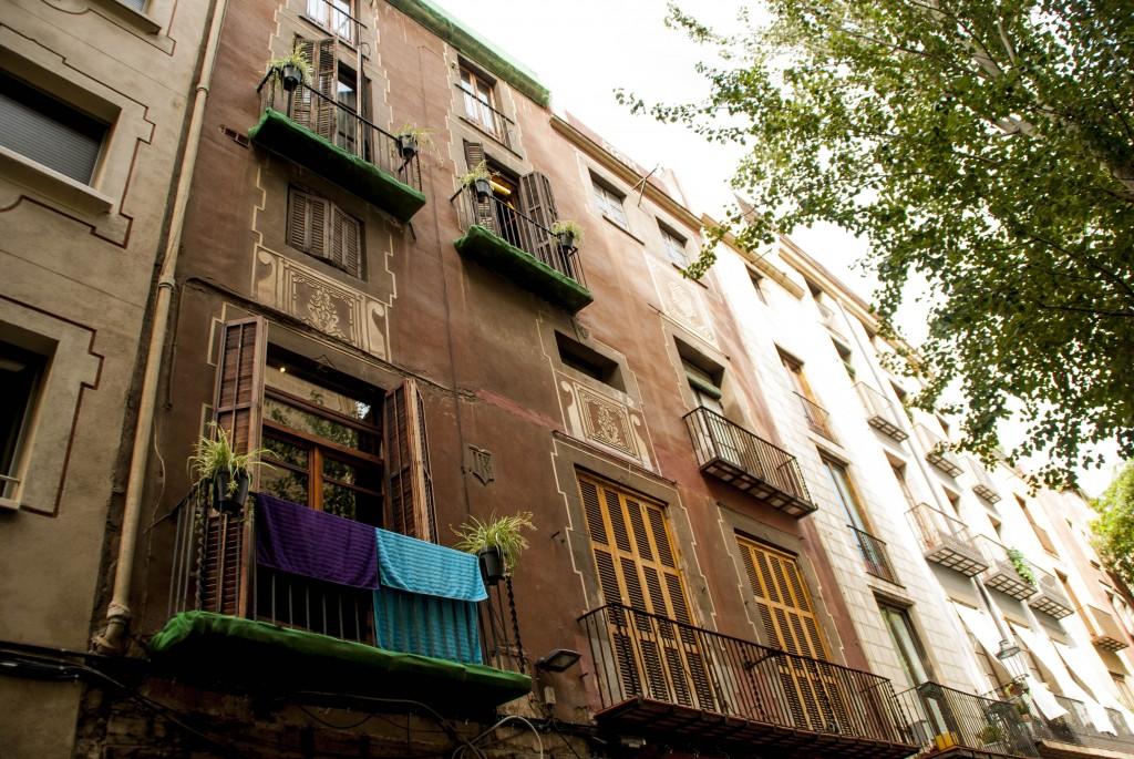 Barcelona-Balkone-Gotisches-Viertel