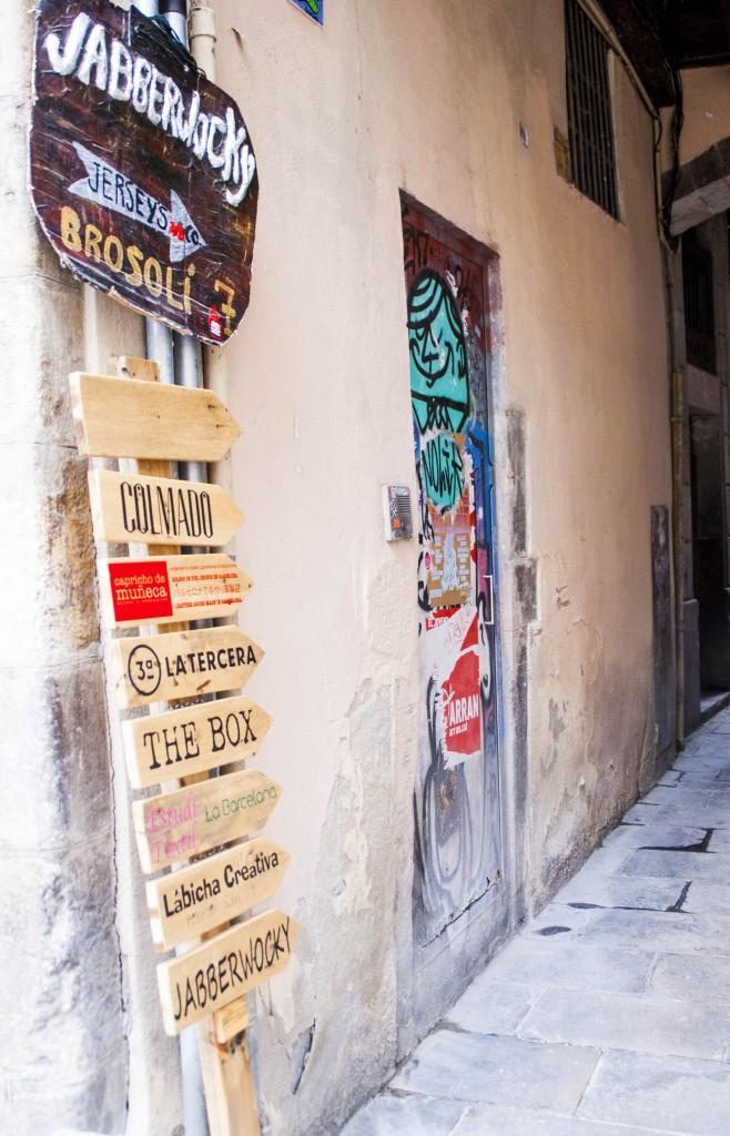 Barcelona-Gasse-Schilder