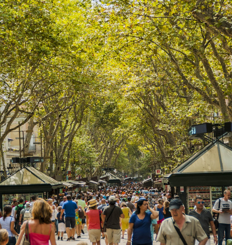 Barcelona-Menschenmasse