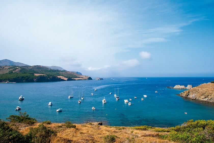 Boote in der Bucht von Garbet