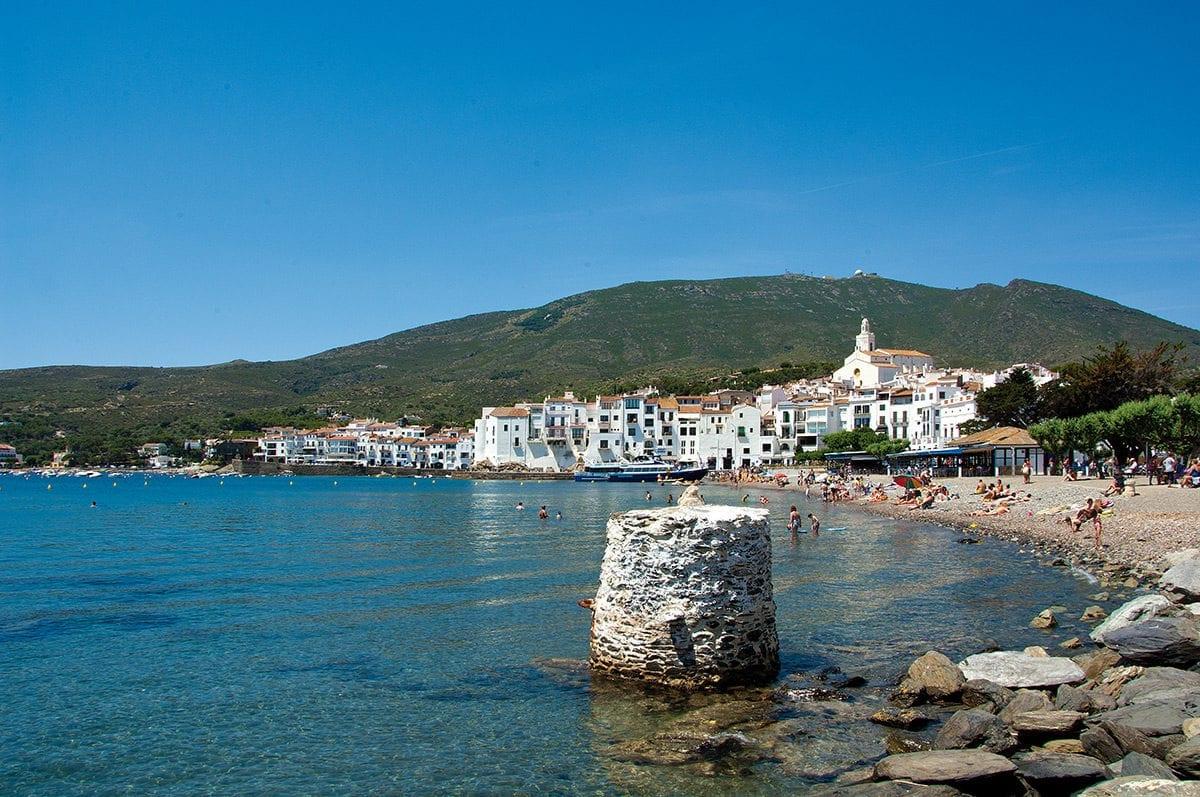 Das weiße Dorf mit Strand