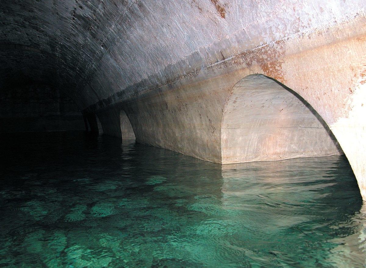 Castell Sant Ferran Wasserspeicher