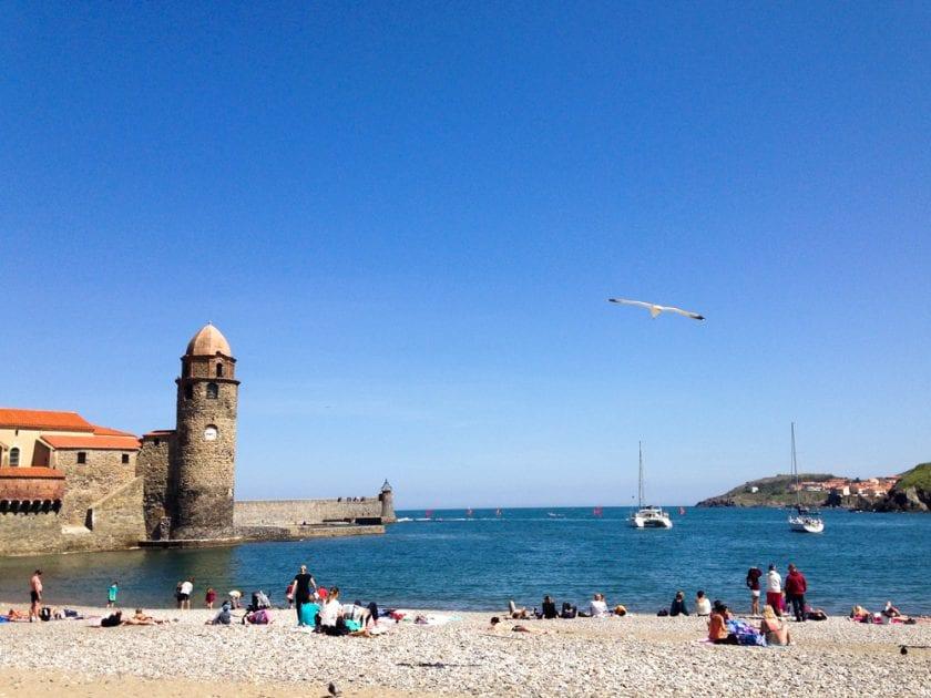 Hochbetrieb in der Bucht von Collioure.