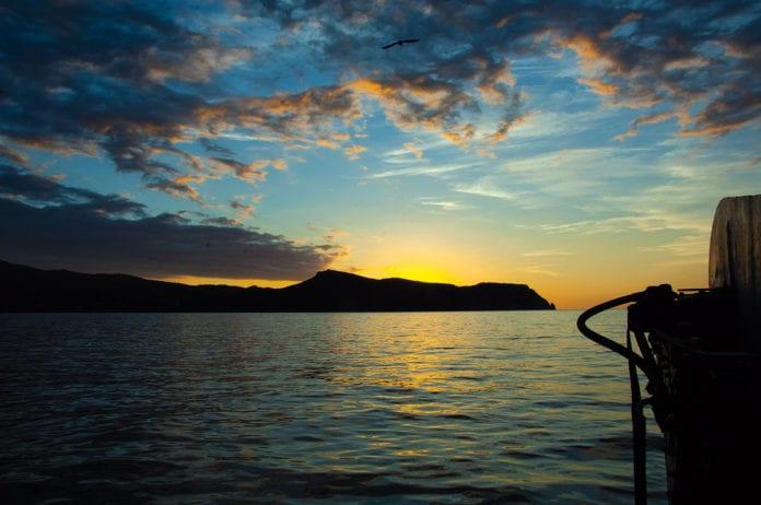 Früh am Morgen auf einem Fischerboot