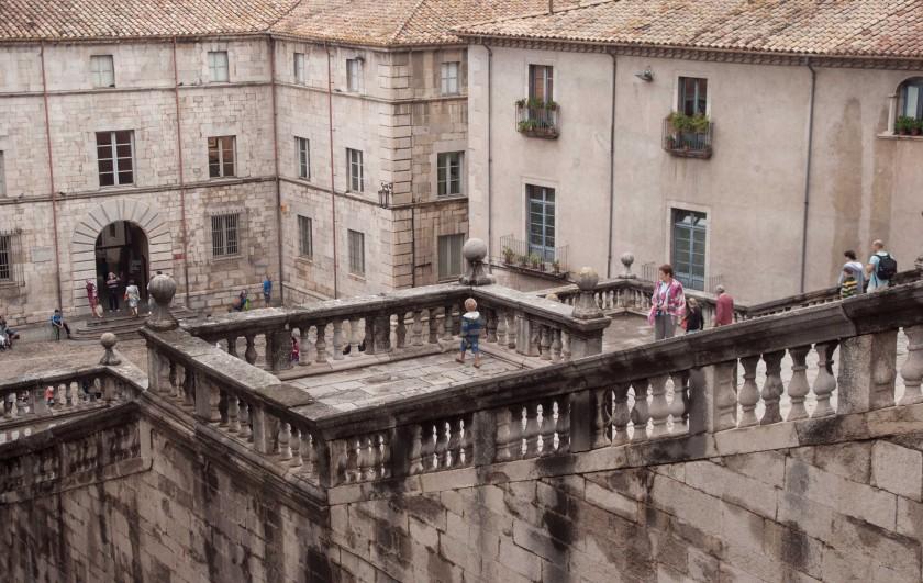 Girona-Kathedrale-von-oben