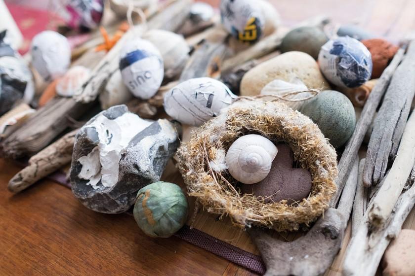Strandstilleren für die Ostertafel