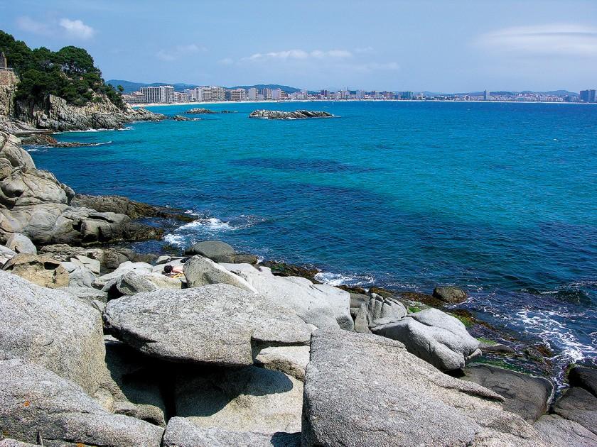 Blick auf Palamos zwischen Calonge und Platja d'Aro