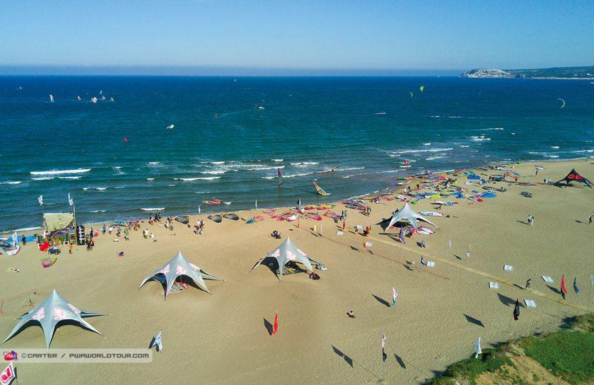 Strand Luftaufnahme