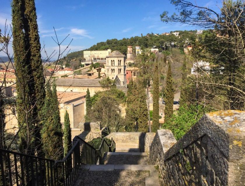 Ausblick auf das grüne Girona