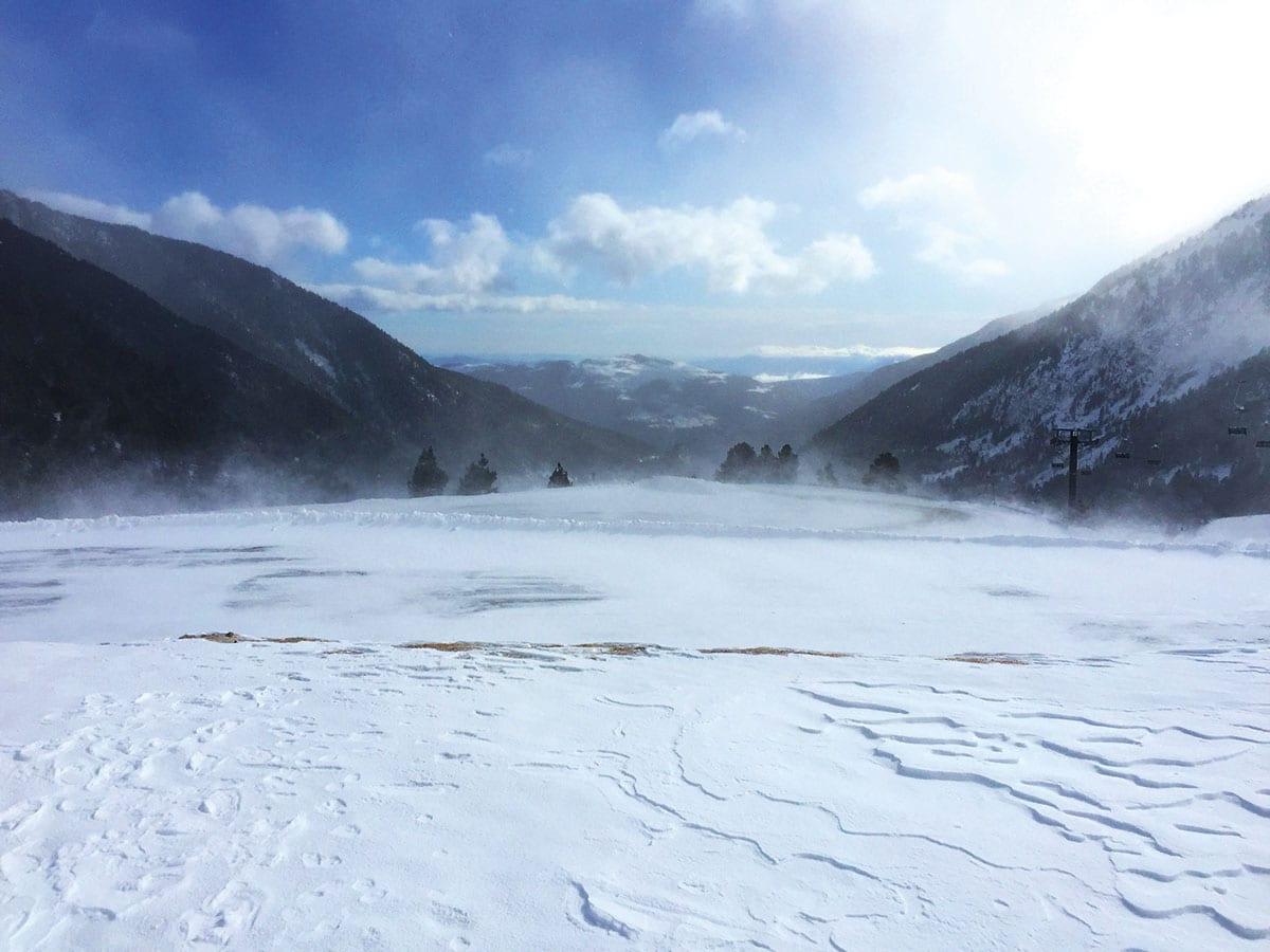 Skigebiet nahe der Costa Brava