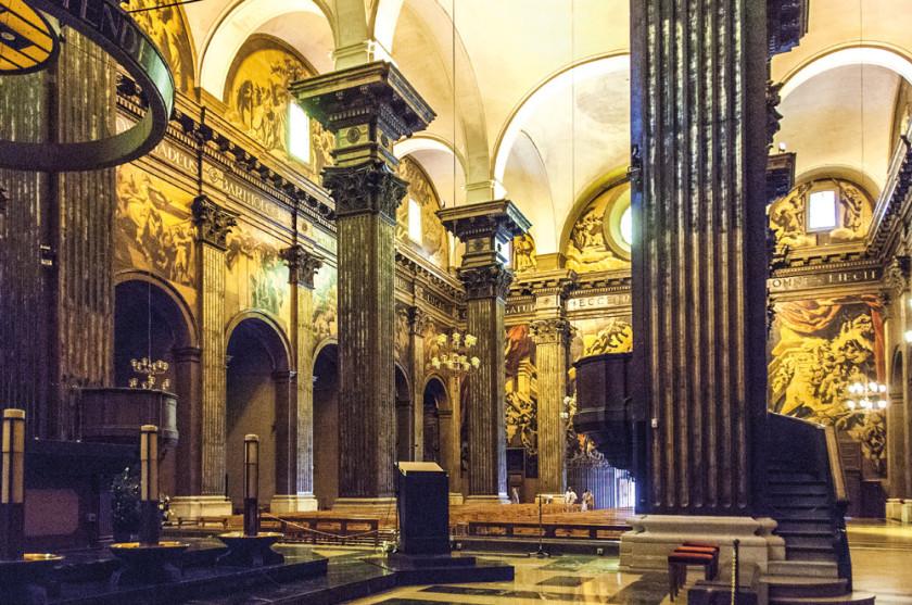 Blick auf die Wände der Kathedrale Sant Pere in Vic