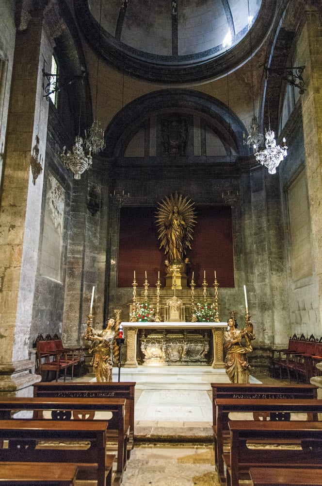 Der Altar der Kathedrale in Vic.