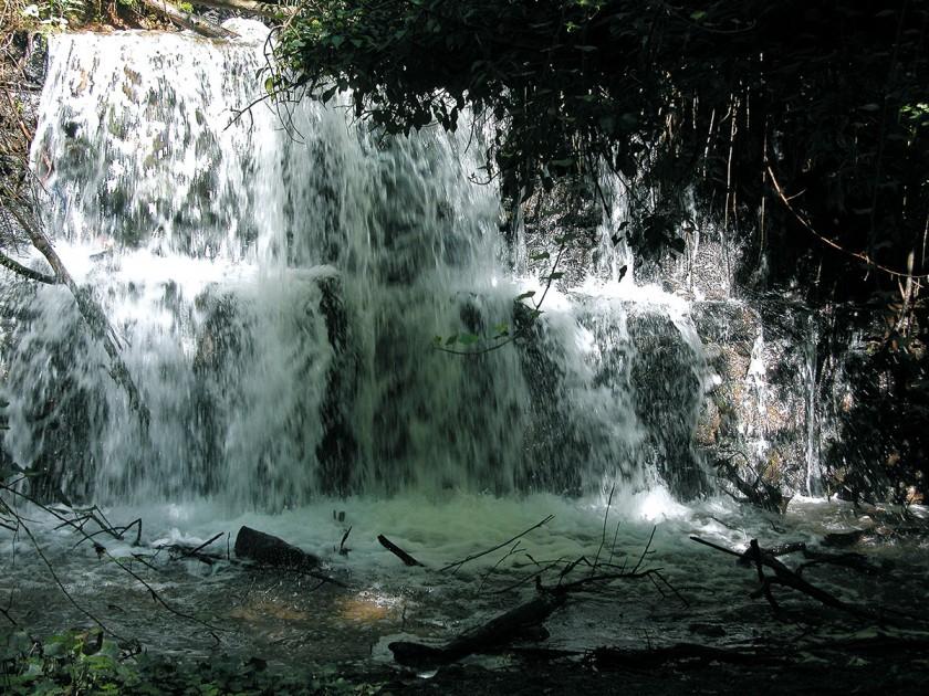 Wasserfall des Fluvia in der Garrotxa