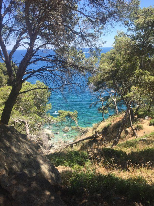 Wandern: Blick in die Bucht