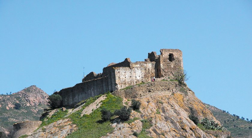 Burg mit Meerblick