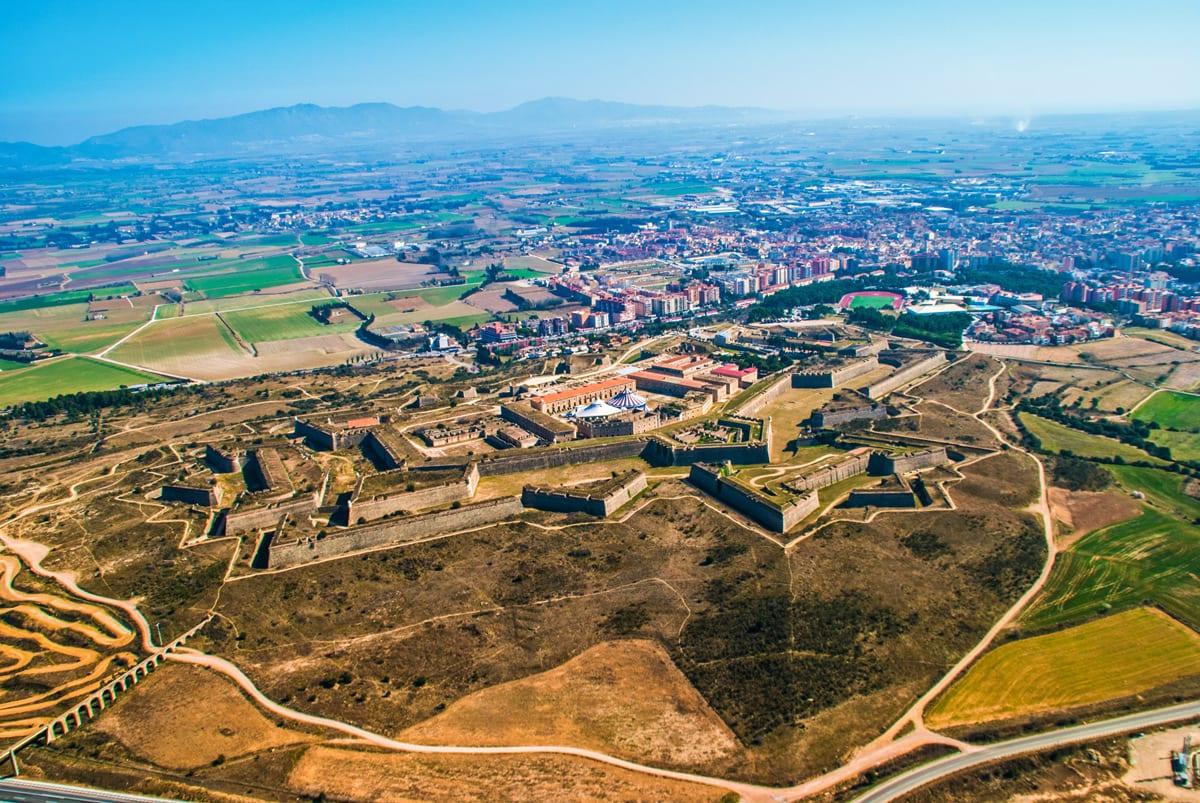Luftaufnahme der Festung - Castell de Sant Ferran in Figueres