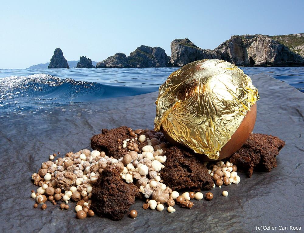 Schokoladige Schätze am Strand.