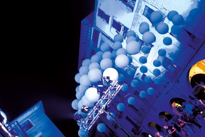 Altstadtfest in Girona mit Lichtspektakel