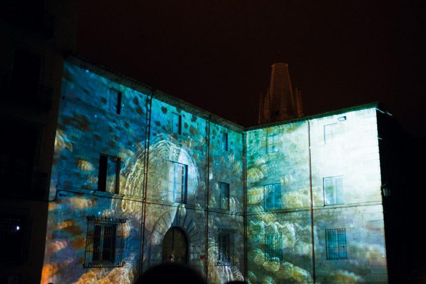 Videomapping auf historischer Fassade