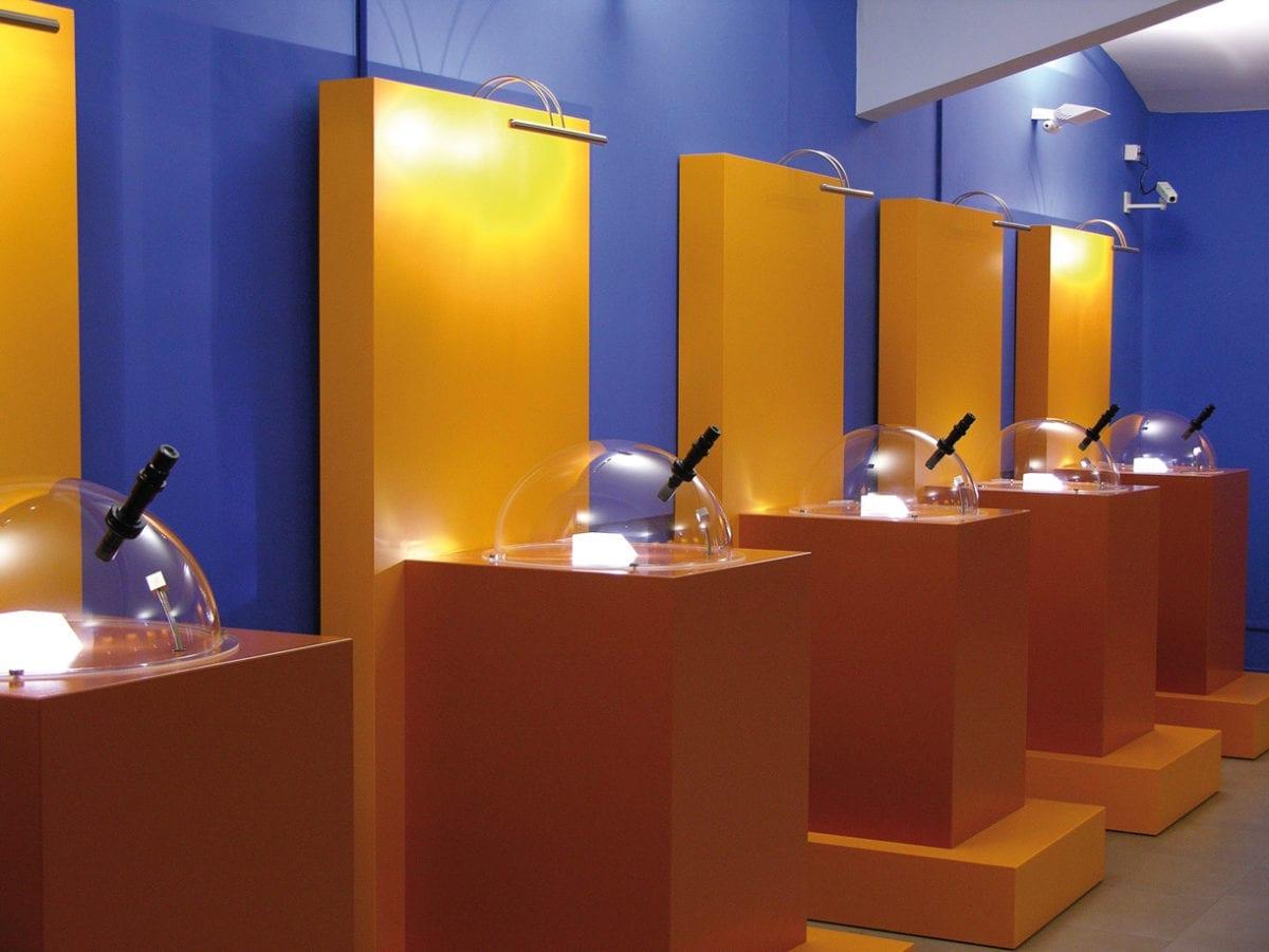 Ausstellungsraum der Exponate im Miniaturmuseum