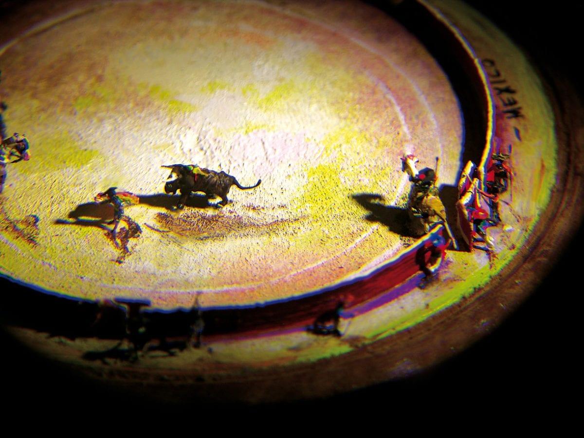 Spanischer Stierkampf in Miniatur