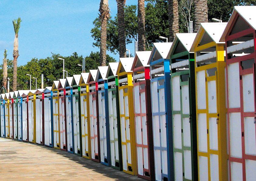 Einmalig - die Badehäuschen am Strand von S'Agaró