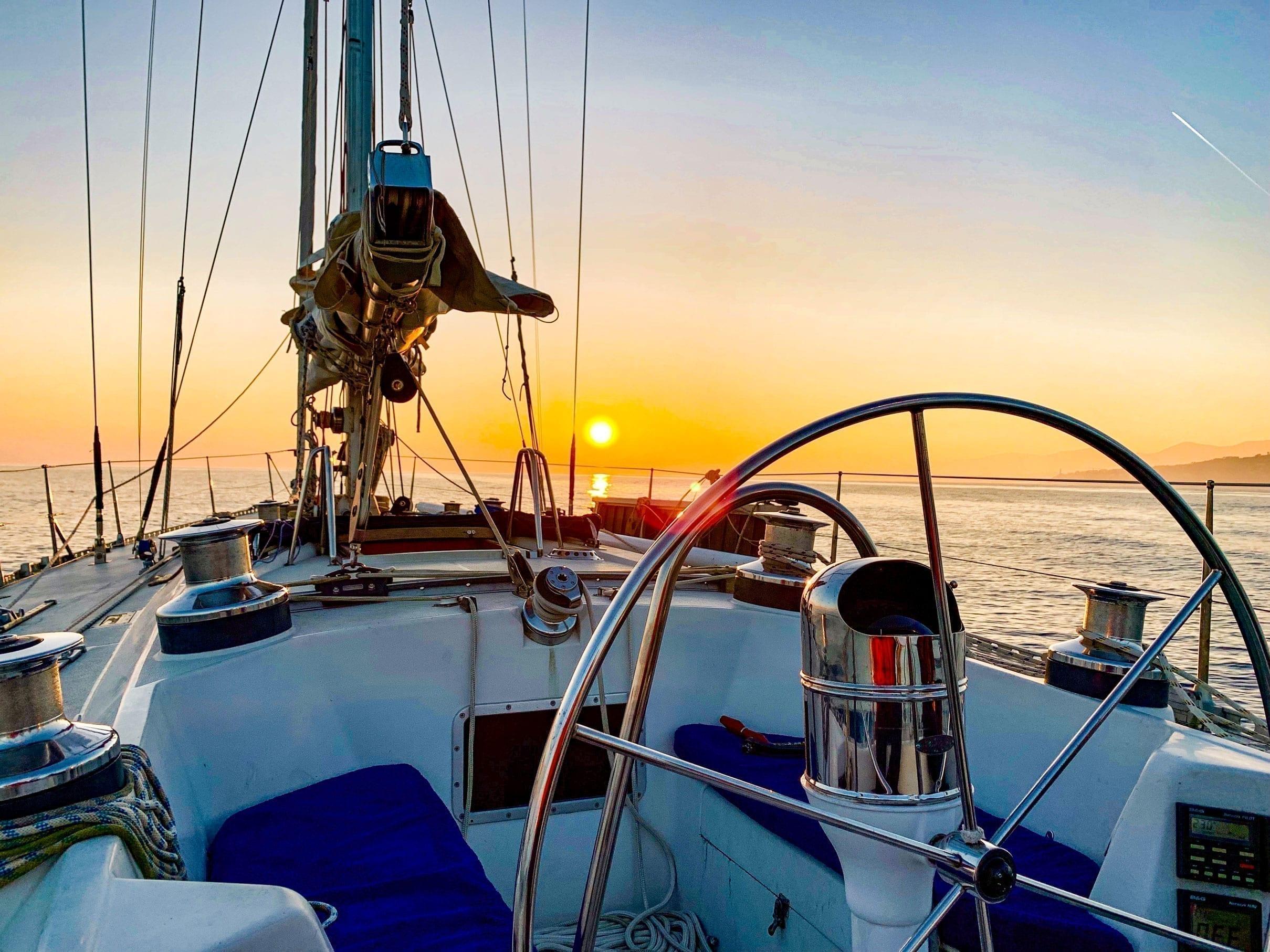 Puesta de sol justo antes de la costa de Mallorca