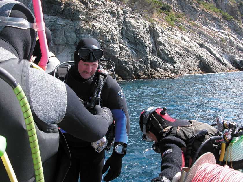 Start ins Wasser: Tauchgang